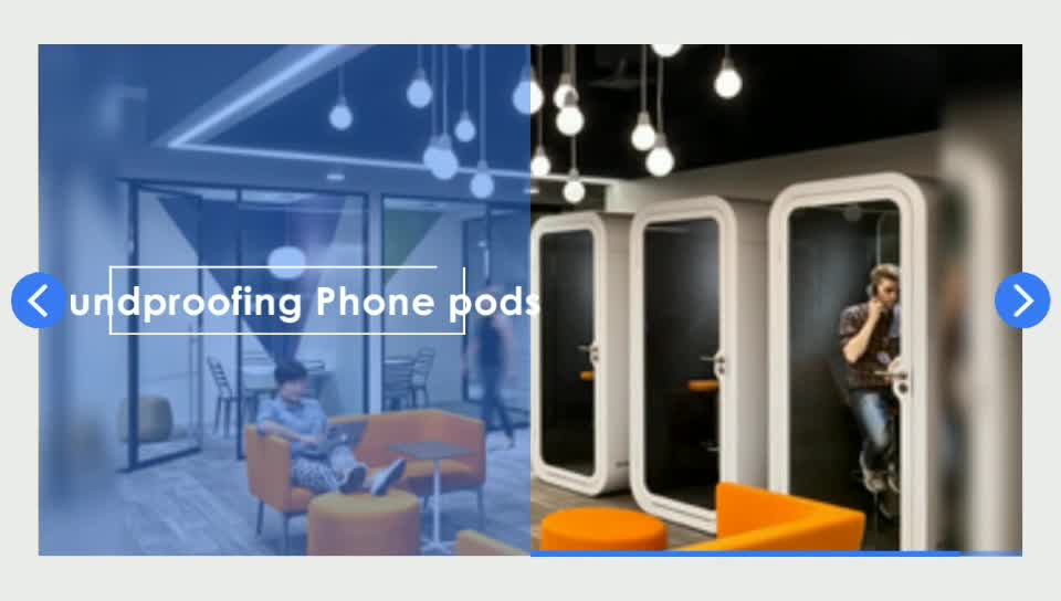 Office Phone Booth Meeting Pods With Sound Absorbing