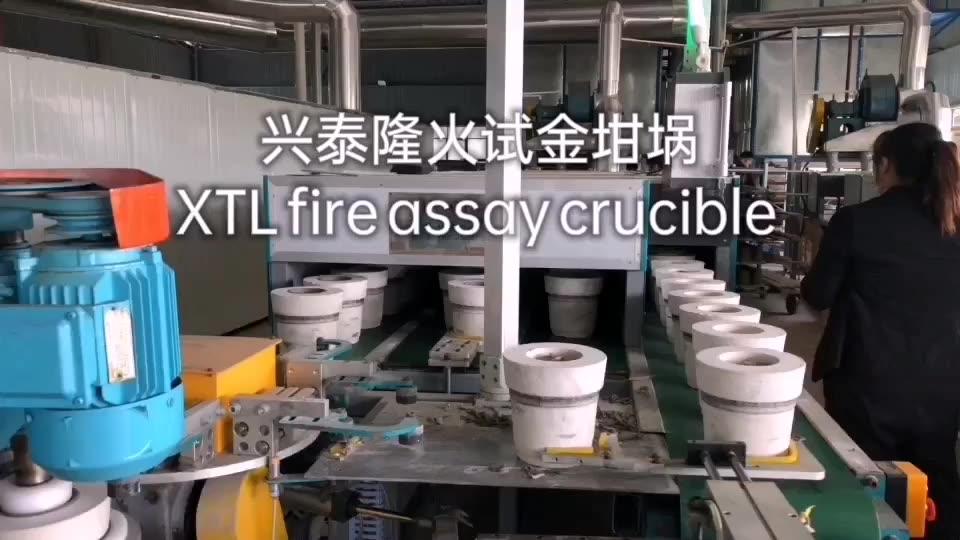 Ceramic Clay Fire Assay Crucible Free samples crucible for gold melting alumina