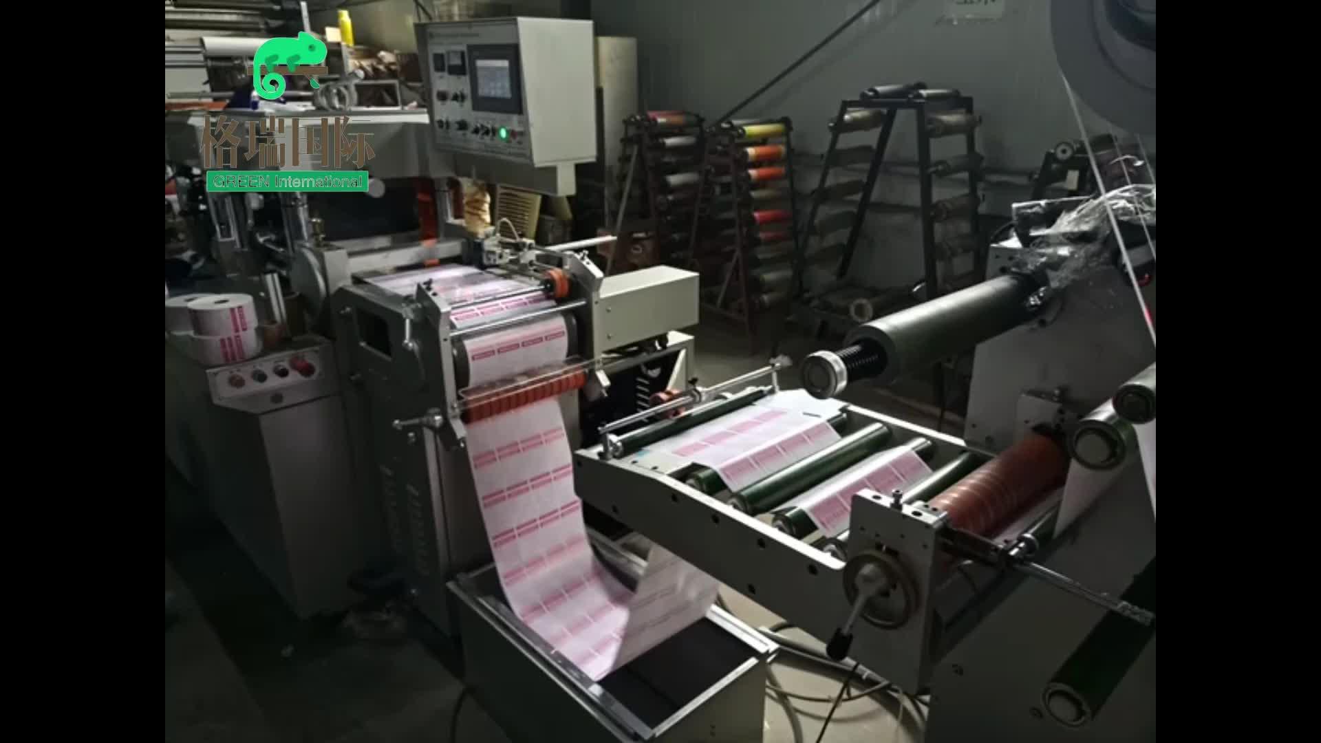 Direct thermisch papier zelfklevende stickers gestanst verpakking label rolls