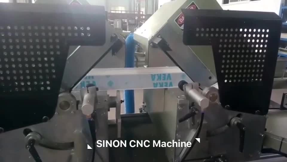 CNC Automatic UPVC Double Heads Cutting Machine with SIEMENS System
