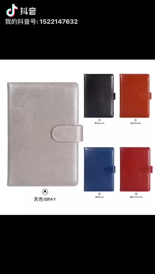 thin leather notebook 2020 diary with custom logo