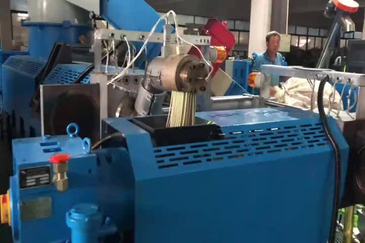 pp pe film granulating machine / hdpe ldpe recycling pelletizing line / waste plastic granules making machine price