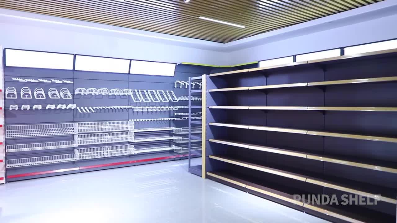 Heavy duty supermarkt metallic regale/Shop-Display-Racks/gondel regale OEM