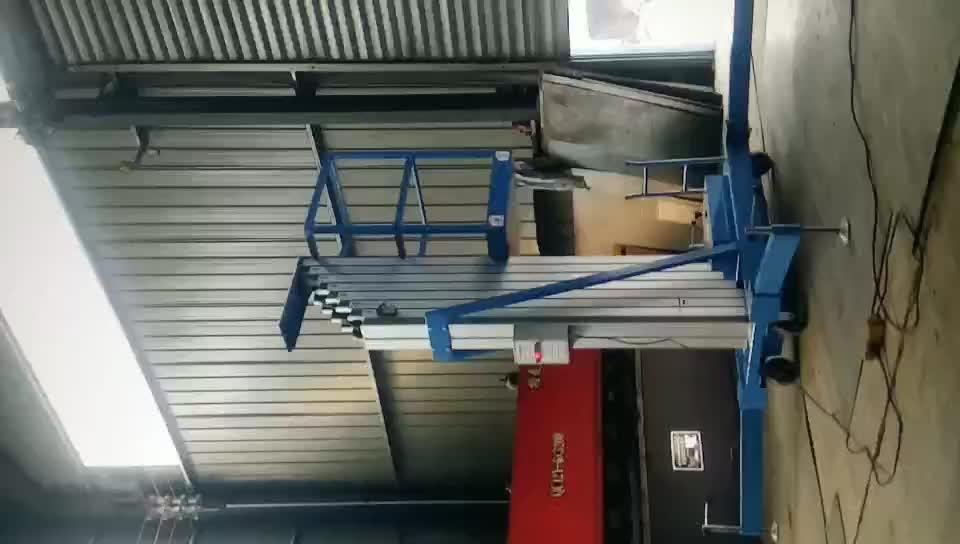 7LSJLI Jinan SevenLift 5 m di alluminio elettrico da tavolo piattaforma di sollevamento di sollevamento portatile personales
