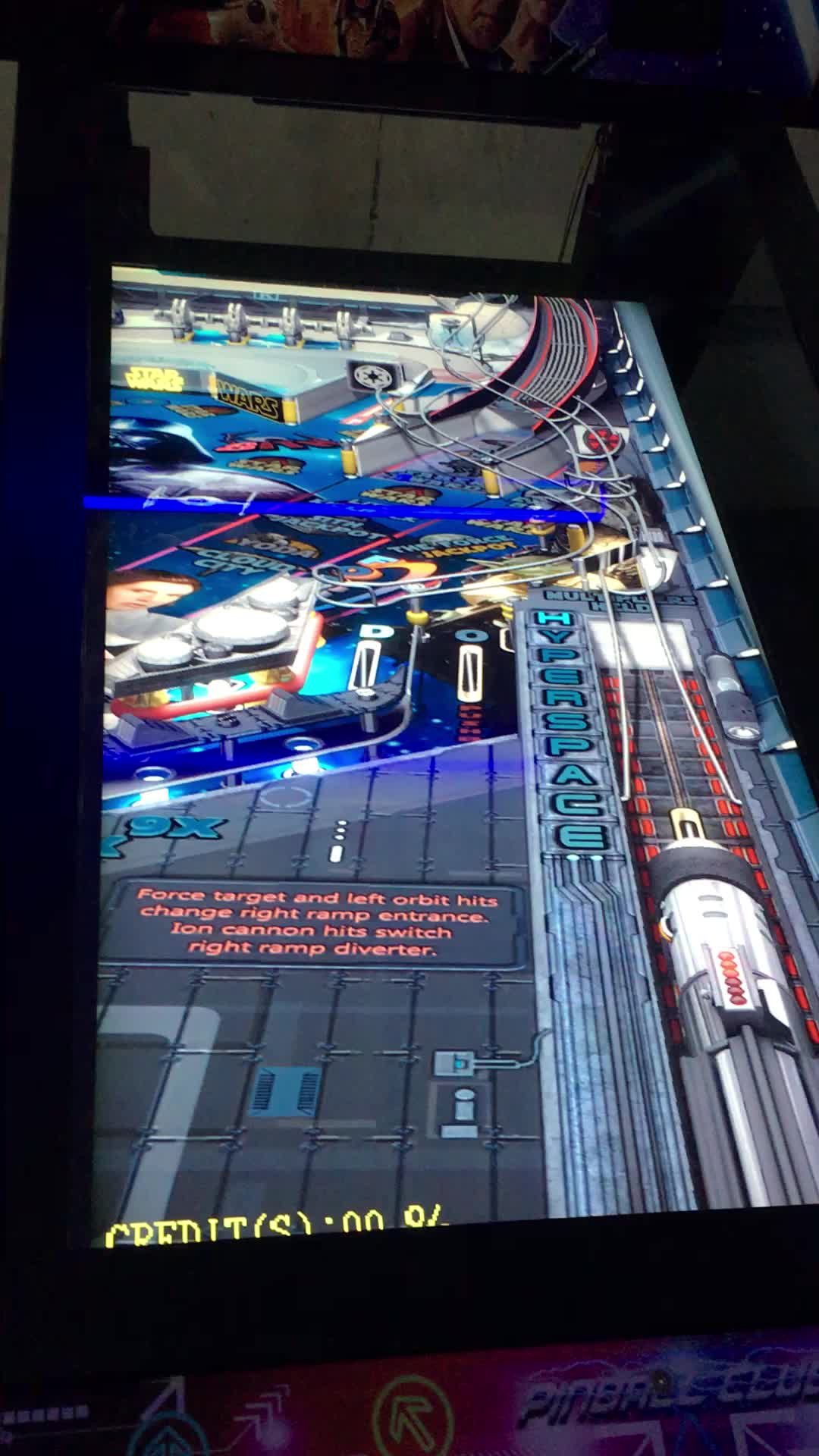 2 Screen Folding Virtual Pinball Machine with 60 pinball games
