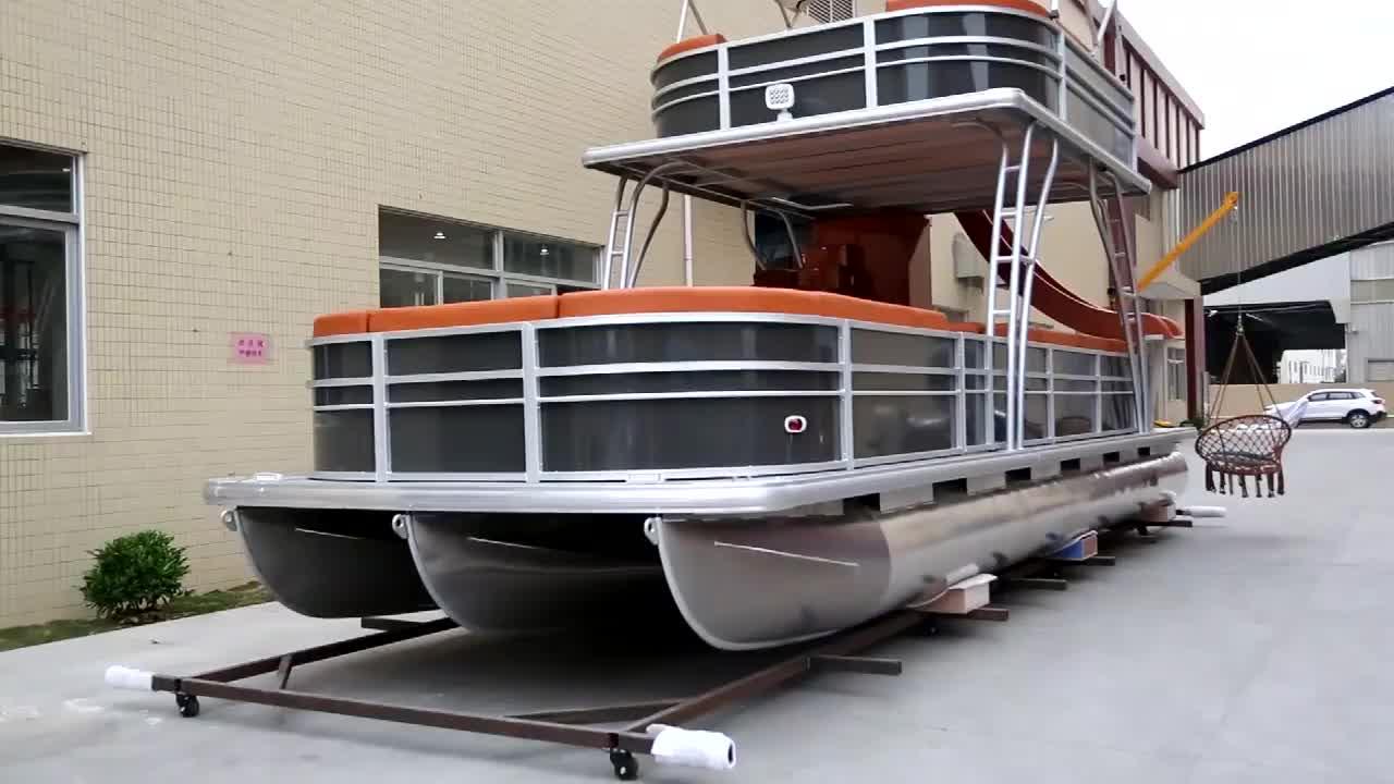 27ft Luxury Double Deck Thuyền Pontoon Mới Nhôm Sang Trọng