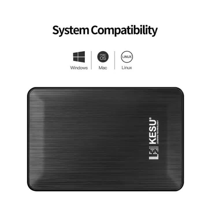 Disco duro portátil. KESU, gran capacidad de almacenamiento de datos disco duro externo 4TB HDD para el ordenador portátil/escritorio la computadora