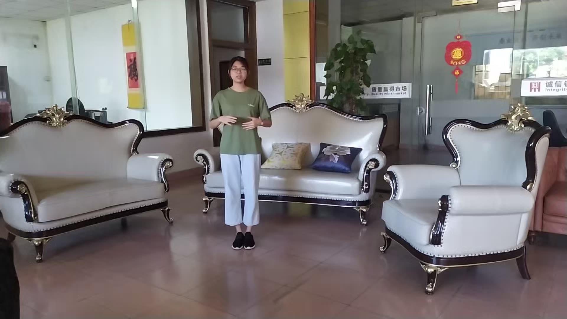 Dingzhi-muebles para sala de estar, sofá de esquina para el hogar, conjunto de sofá de cuero auténtico de lujo, 2020