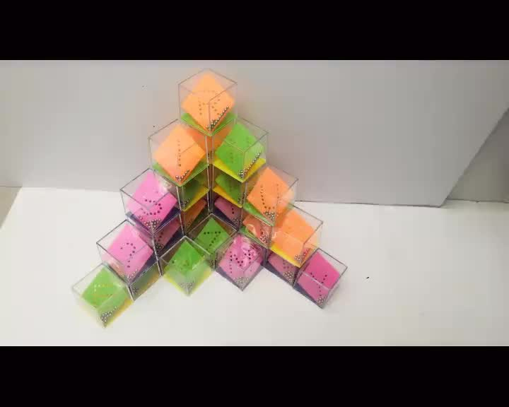 Promotional creative education 24pcs in 1 4x4 magic cube puzzle