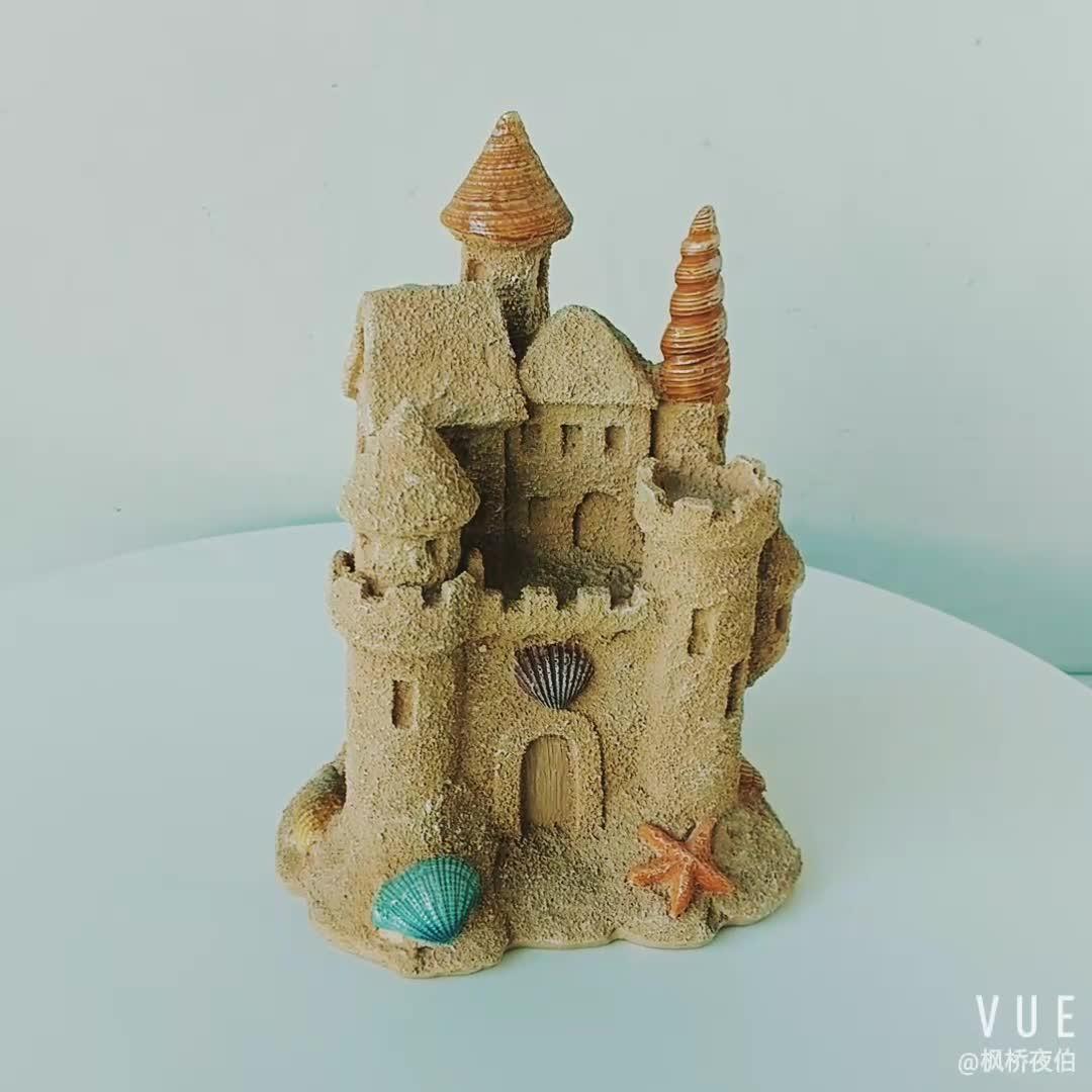 6 אינץ פיות גן בסגנון ימי שרף חול טירת שולחן קישוט קרפט הימי