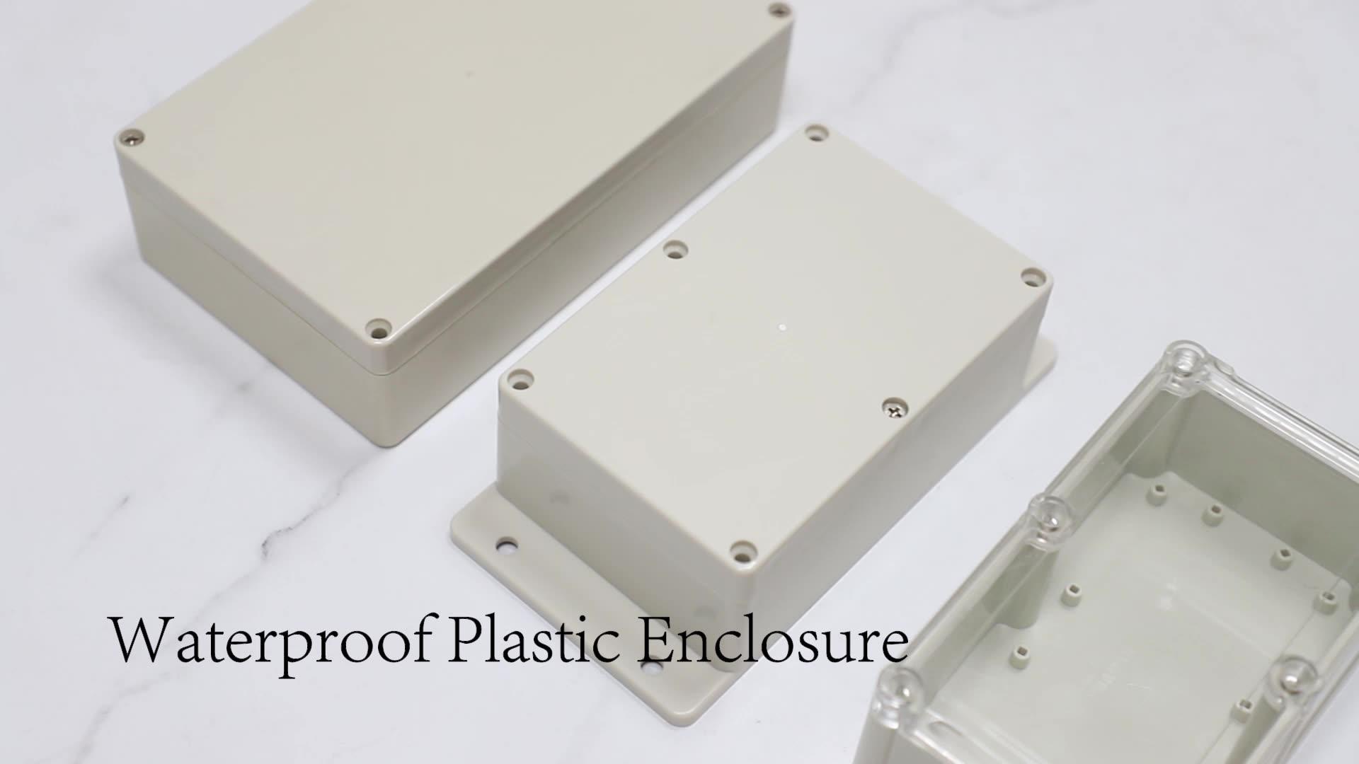 ABS de plástico al aire libre caja electrónica impermeable IP65 caja