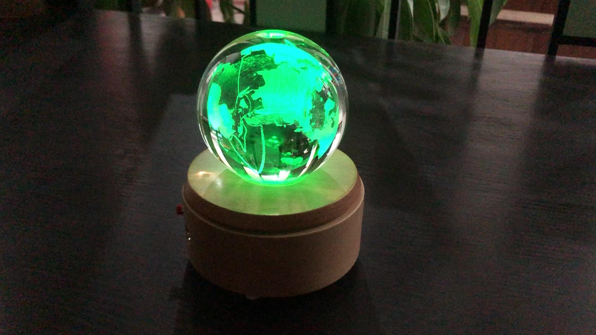 Großhandel laser gravierte Festen Kristall Glas Ball Für dekorative