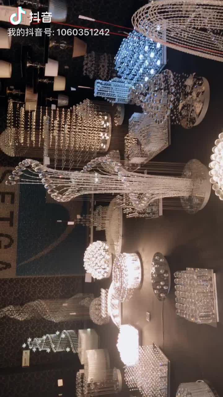 우아함 현대 k9 크리스탈 led 모션 센서 링 호텔