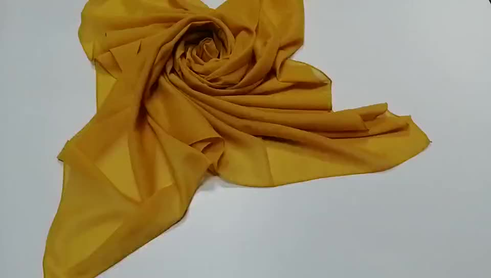 Best selling Solid dyed turkey shawl hijab with voile fabric