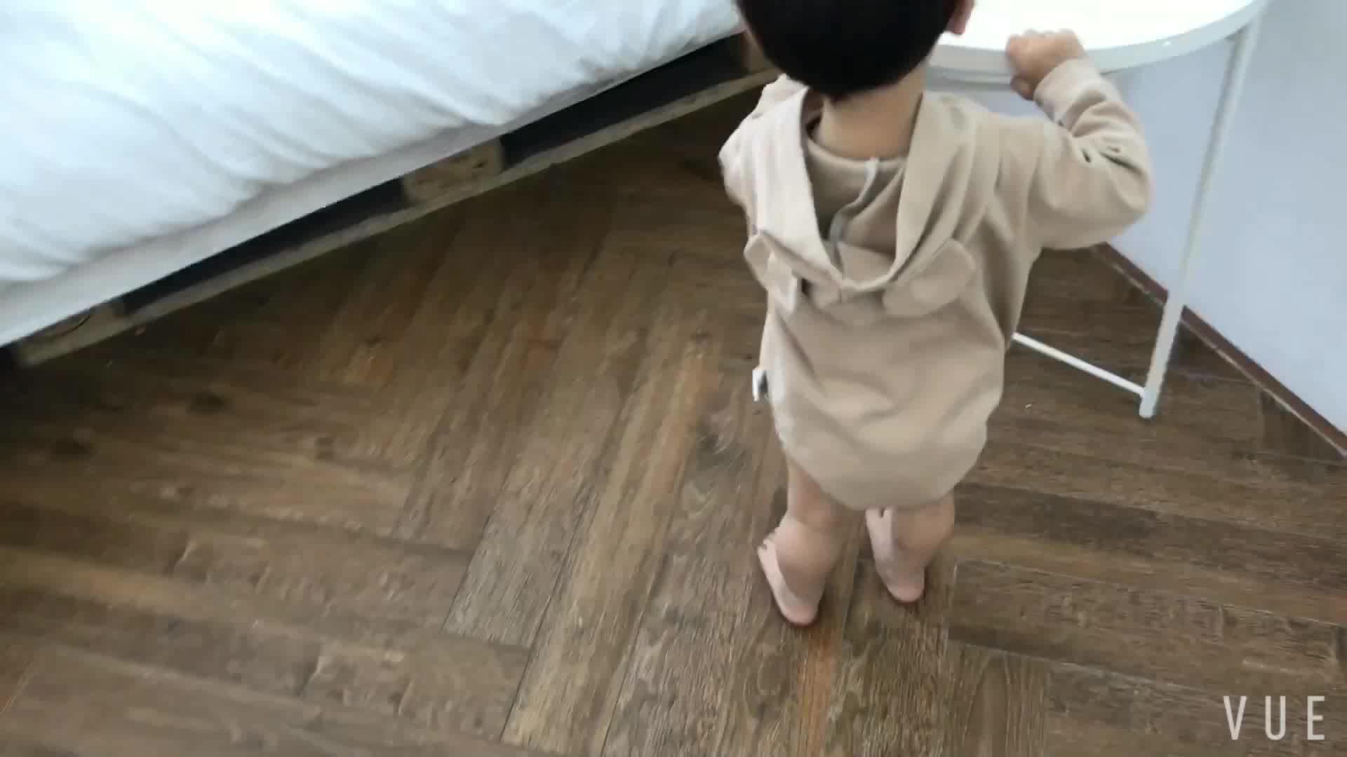Q2-baby Infant Toddlers Vêtements Coton Doux Mignon Bébé Garçon Barboteuses Avec Capuchon