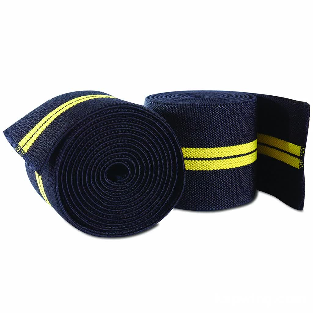 Knee Wraps Weight Lifting Gym Training Elastic Adjustable Knee Straps Private Label