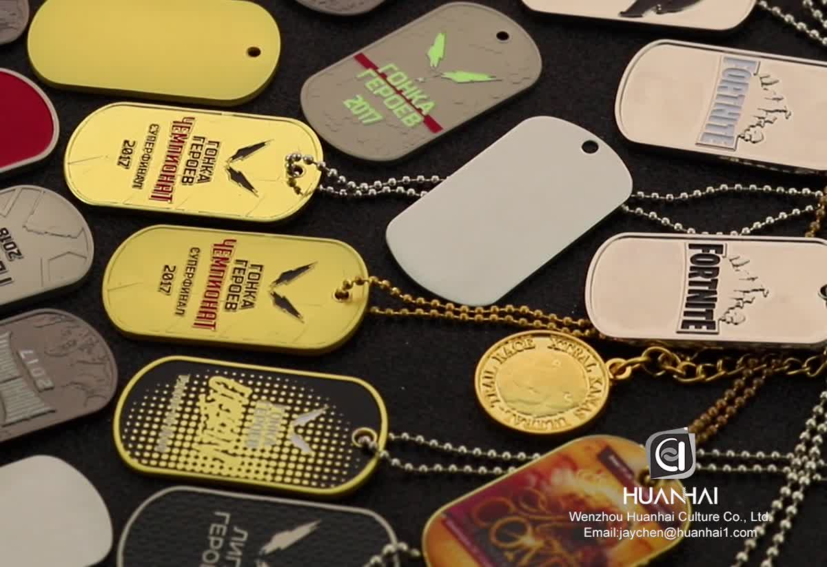 metal crafts manufacturer logo souvenir blank stainless steel custom metal dog tag with chain