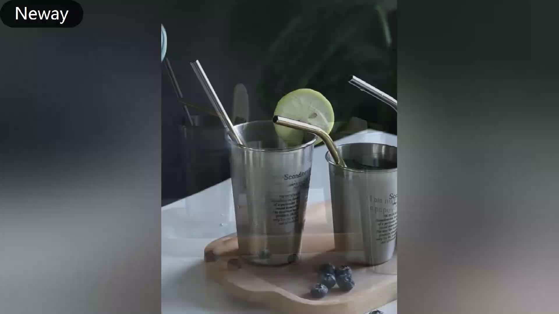 Kore paslanmaz çelik çift katmanlı bardak bira kupası kupa İçecek kupası restoran catering bar paramparça dayanıklı fincan