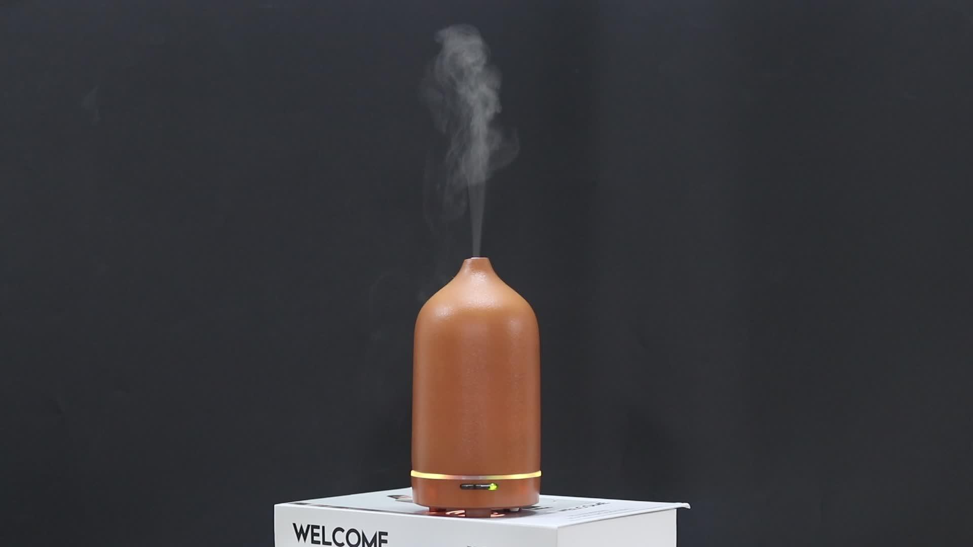 2019 المنزل السيراميك ناشر رائحة بالموجات فوق الصوتية مع مصباح ليد زيت طبيعي العطور الناشر