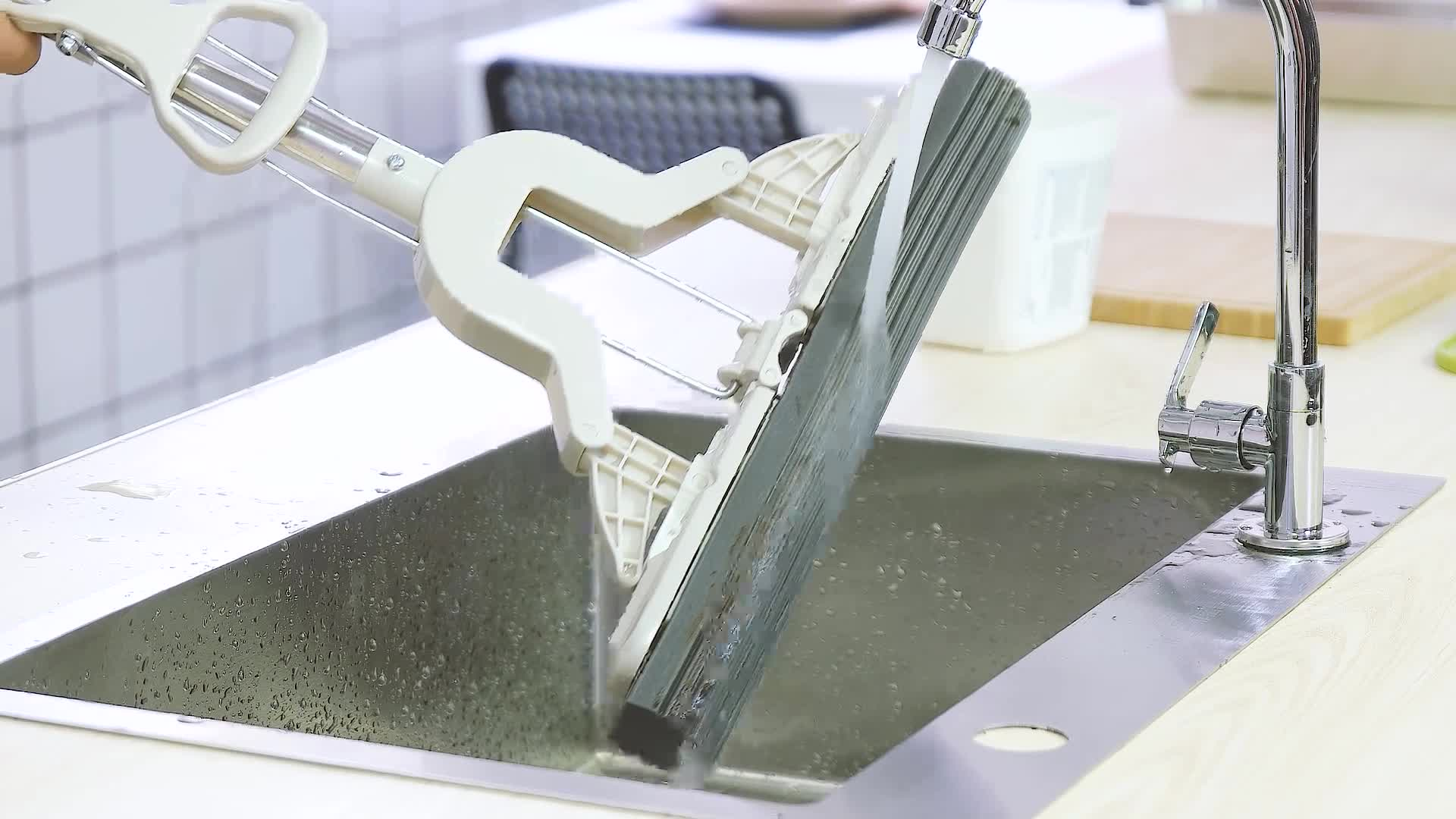 Haushalt Dauerhaft Folding Typ PVA Mopp Schwamm Mopp mit teleskop edelstahl pol