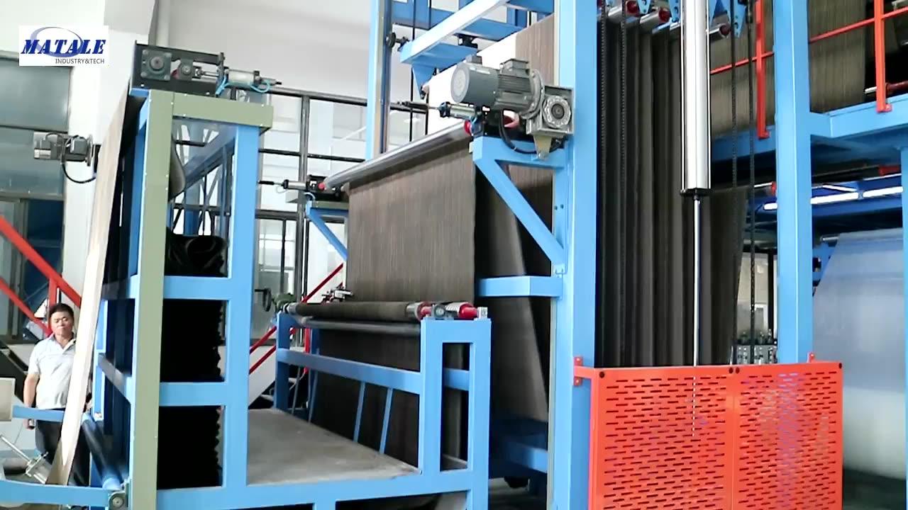 Telha do tapete máquina de revestimento e laminação de PVC de volta