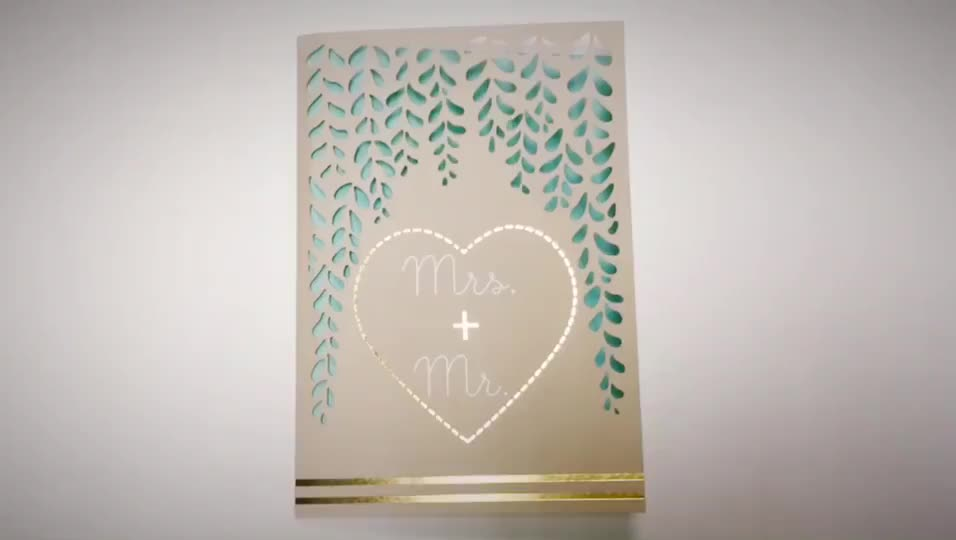 FSC Paper Laser Cut Wedding Handmade Invitation Card