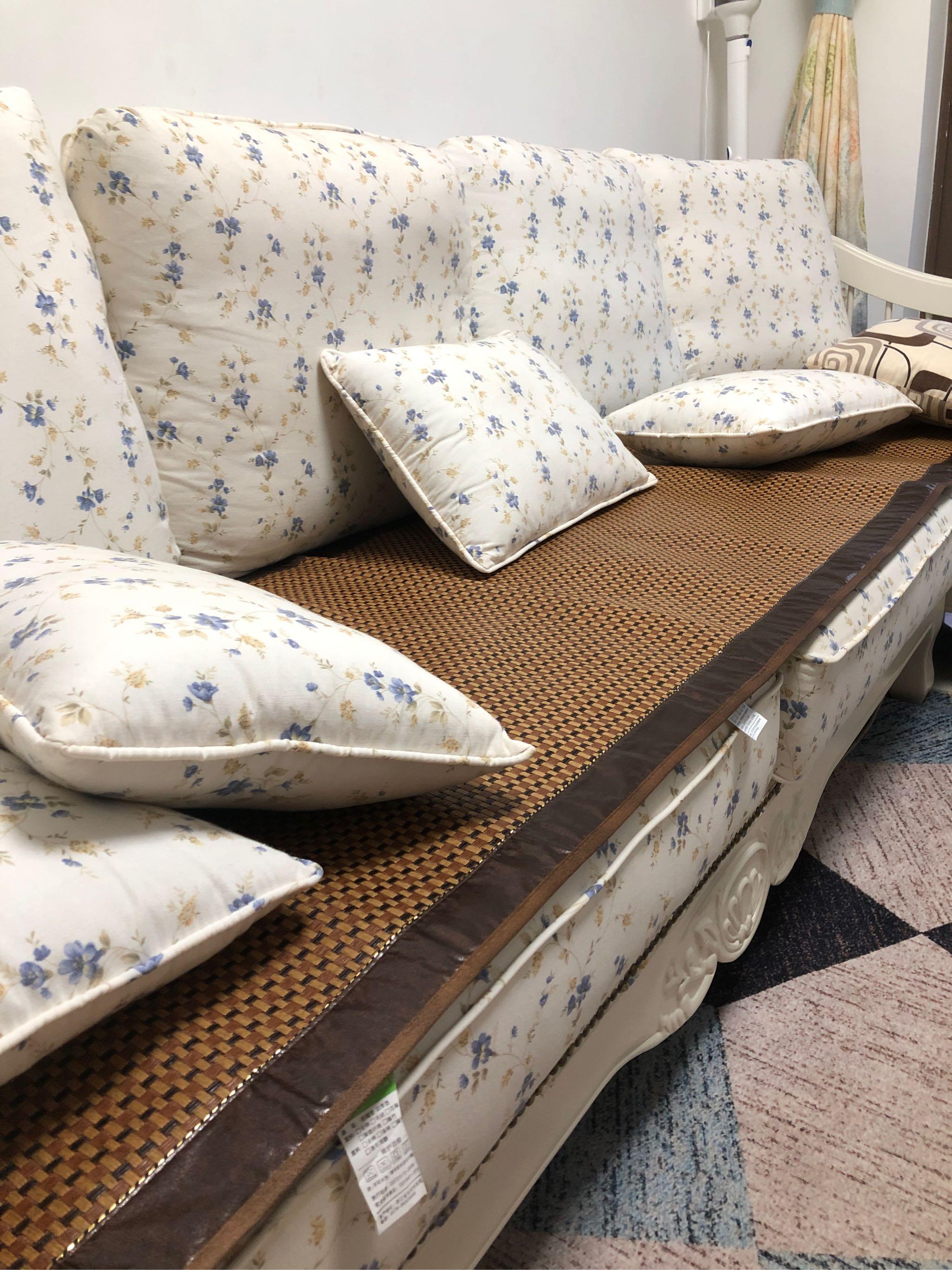 夏季藤席沙发垫这次买赚了,真实效果评测