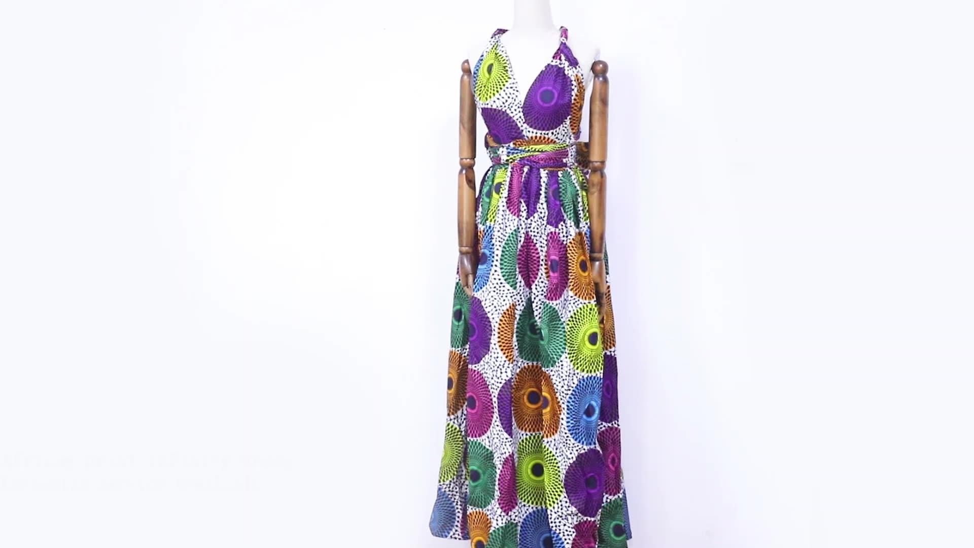 アフリカプリントブランドデザイナー女性マキシドレスホット販売ファッションアンカラ女性インフィニティドレス