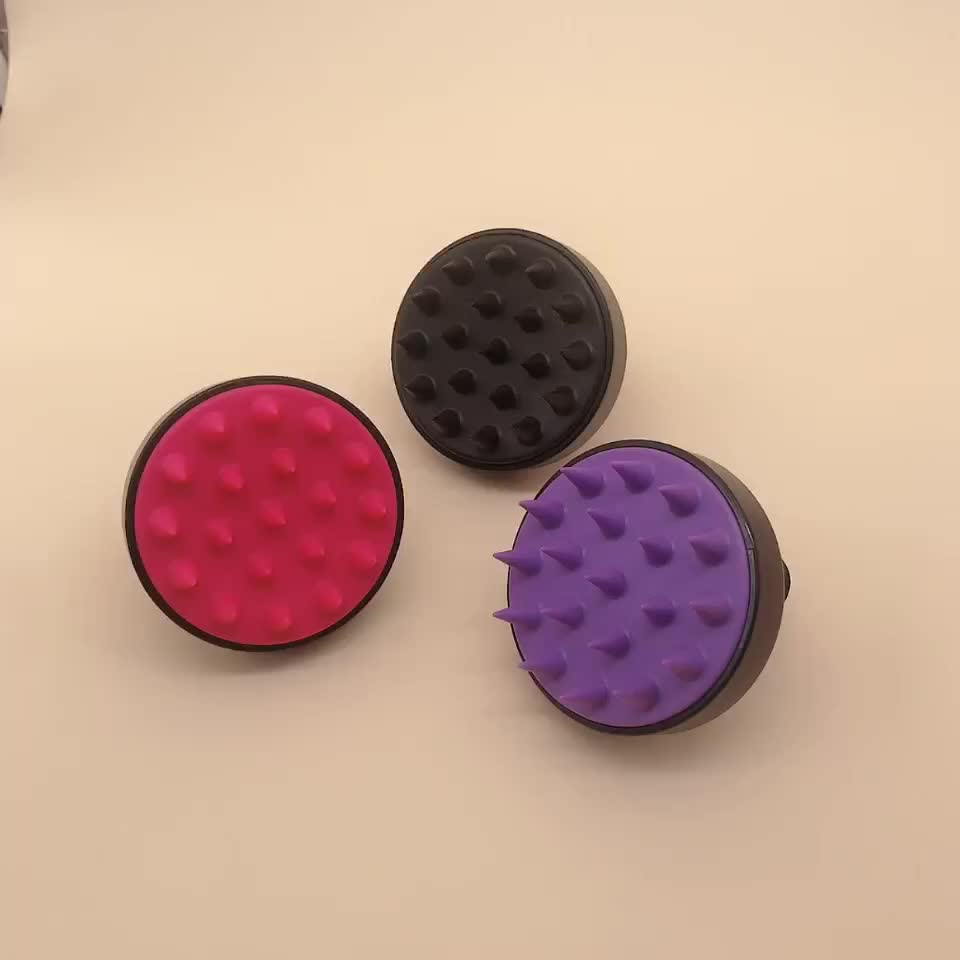 Flexible design colorful bling wet and dry ABS plastic smooth detangling brush hair brush for tangle hair