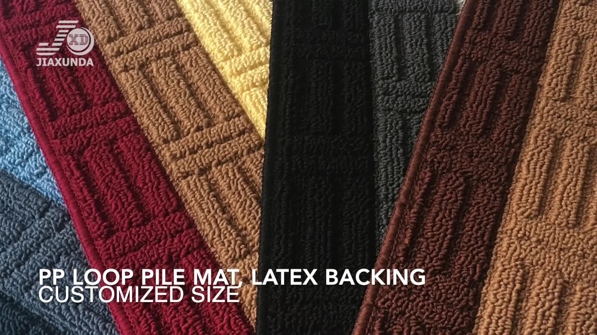 Textured Loop PP Pile rectangular size 40*120cm Non-skid latex backing washable Kitchen Mat