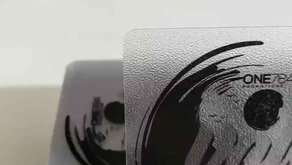 plastic loyalty card pvc business card kit supplier translucent frosted finish pvc card printing
