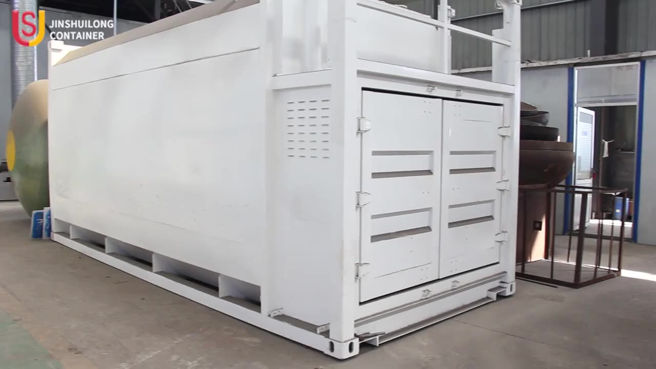 30000L containerized燃料充填携帯ガソリンスタンド