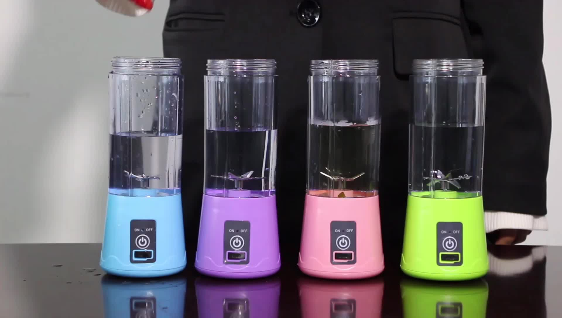 Plastic usb blender fruit juicer bottle