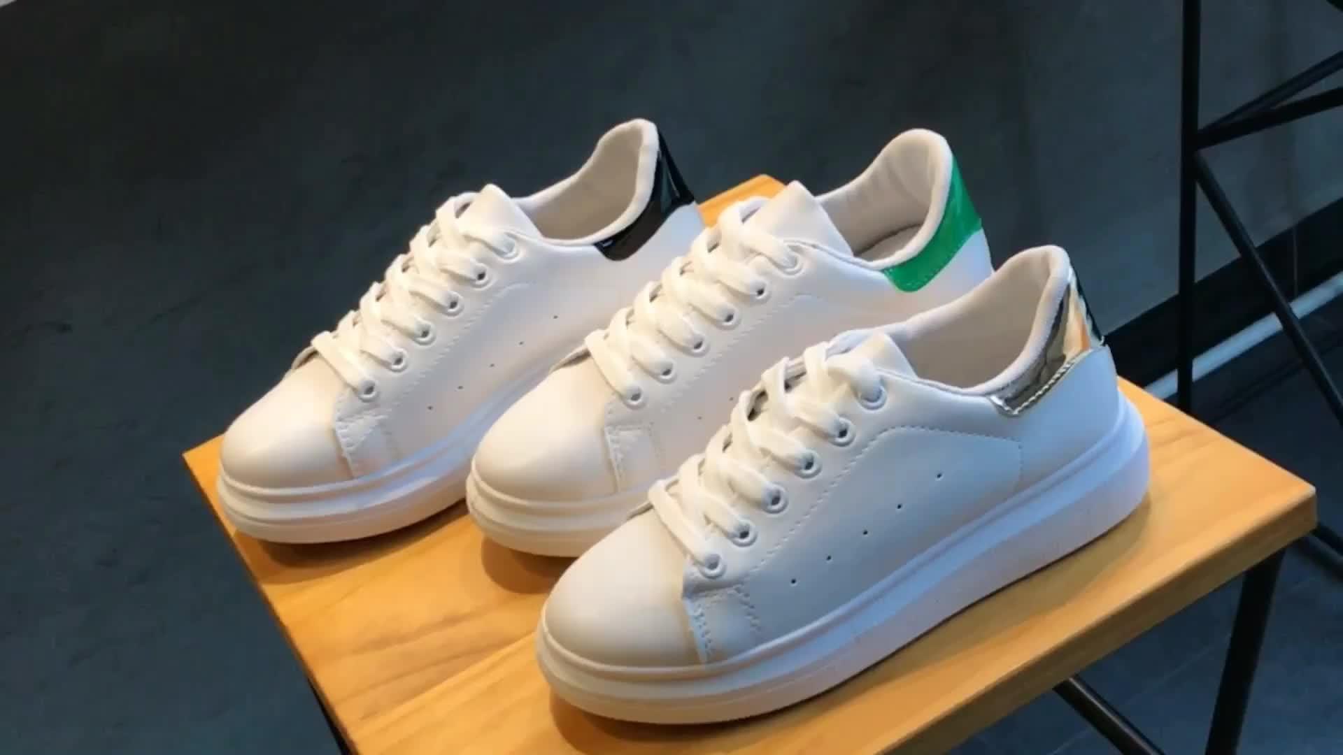 Trung Quốc Bán Buôn Giá Thấp Nhất Thời Trang Giày Thể Thao Nữ Đế Dày Chất Liệu Da PU Trắng Sneakers Giản Dị