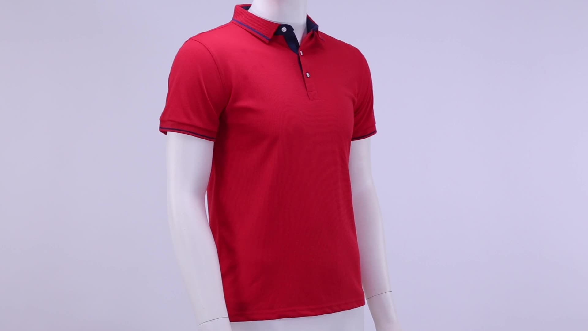 Benutzer definierte Casual Polos T-Shirts Kurzarm Color Block Polo Shirts Männer