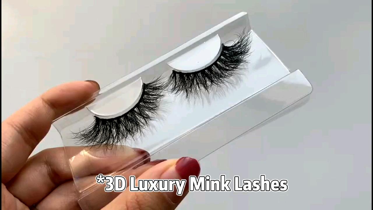 New Style Popular Real 3D Mink Eyelashes Customized Magnetic Eyelash Box 3D Mink Fur Eyelashes