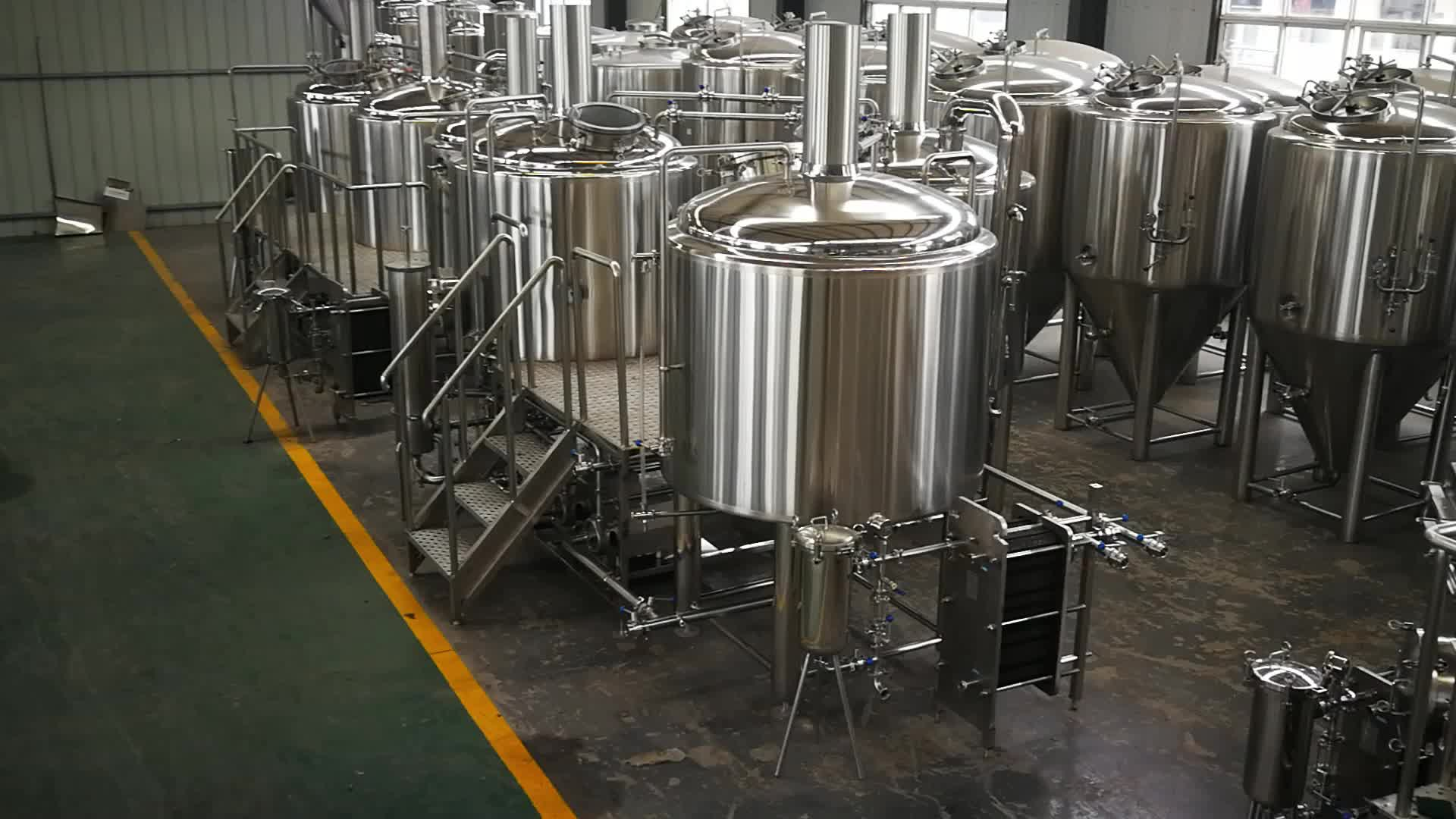 china glycol cooling jacket beer High quality Conical fermentation tanks