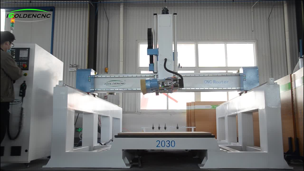 High quality XYZAC 5 axis cnc router wood foam mould milling cnc machine