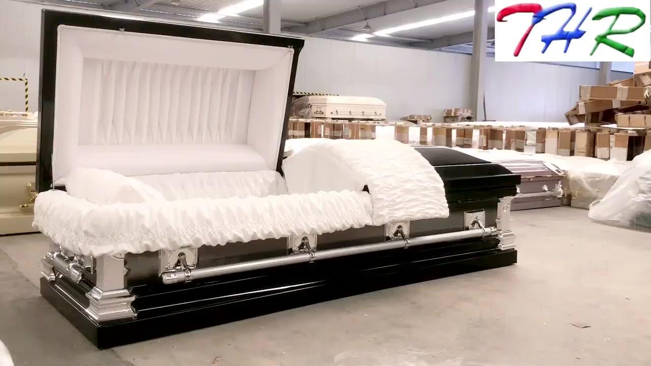 THR-18098125 Metal cenaze tabutu ile kanepe yastığı