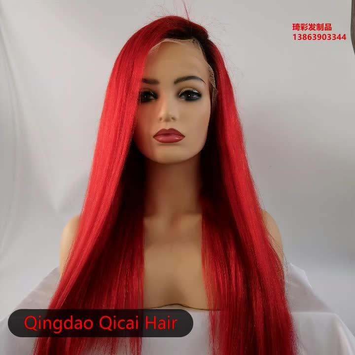 Snelle Levering Lace Pruiken Rode Kleur Europese Haar Volledige Kant Pruik, fabriek Prijs Menselijk Haarkant