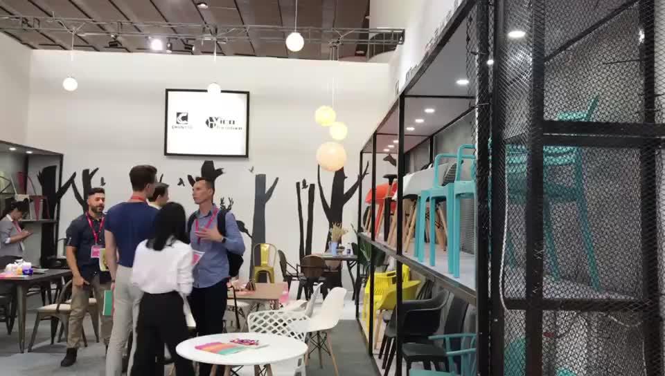 Grau weiß designer restaurant cafe bistro esszimmer kunststoff stuhl