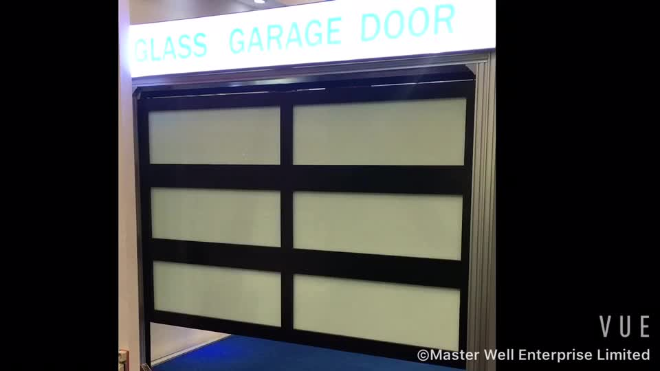 Tempered Glass Aluminum Garage Door Prices