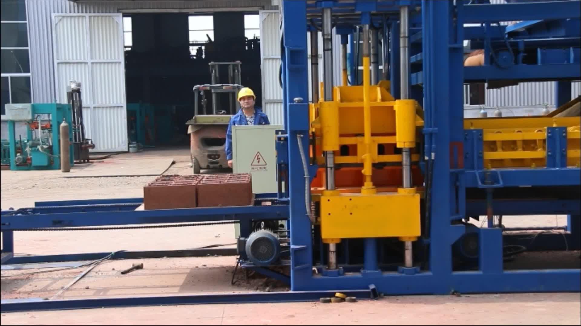 automatic hollow block machine supplier QT10-15 Qingdao HF Industry industrial concrete block making machine
