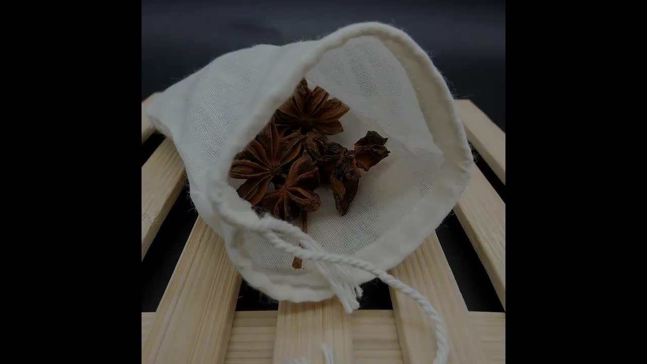 China factory 8*10 센치메터 organic cotton 차 bag 와 string 대 한 biodegradable 차 포장