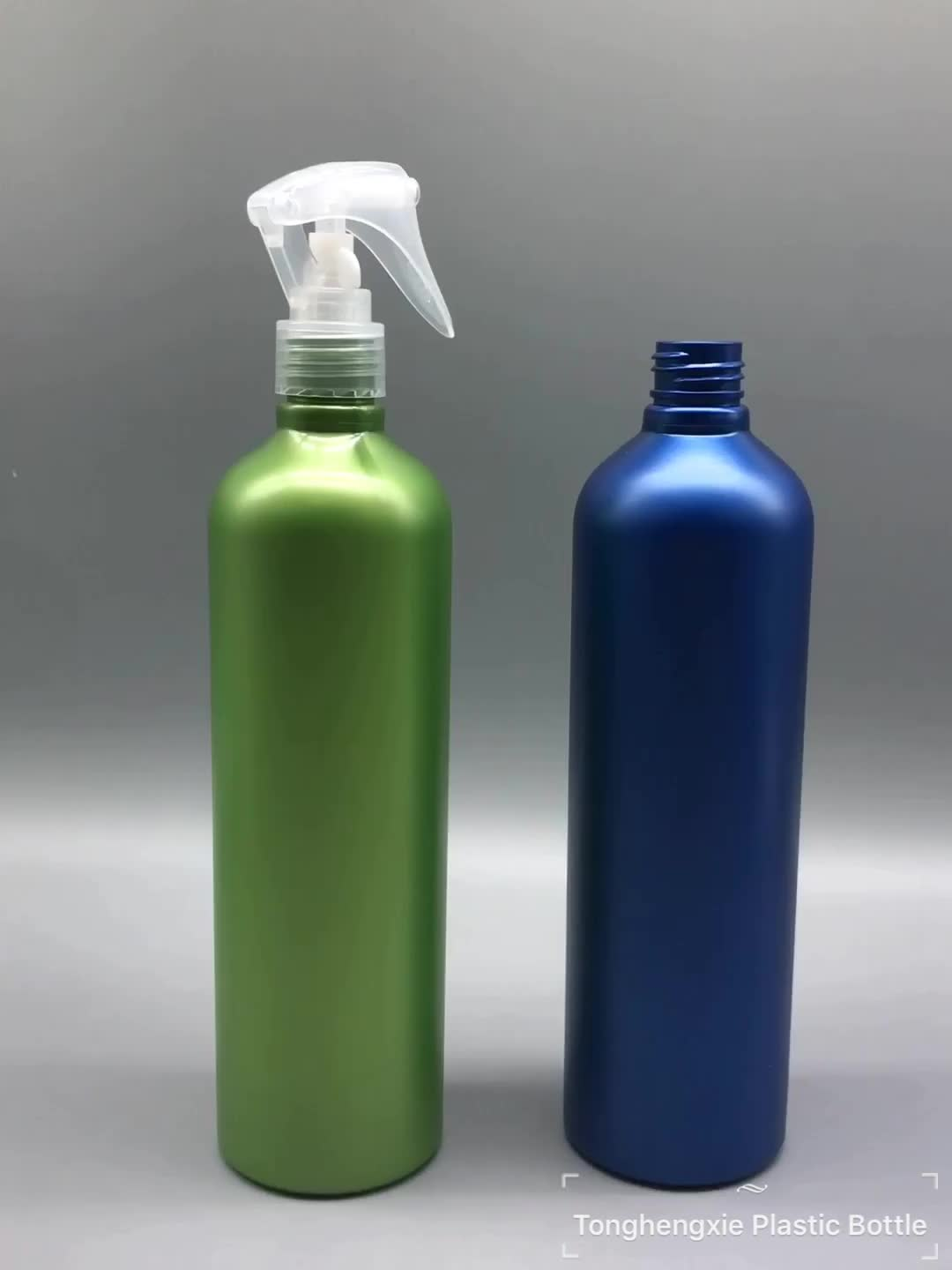 Matte effect empty PET plastic 500ml 17oz mouse trigger spray cosmetic bottle for air freshener