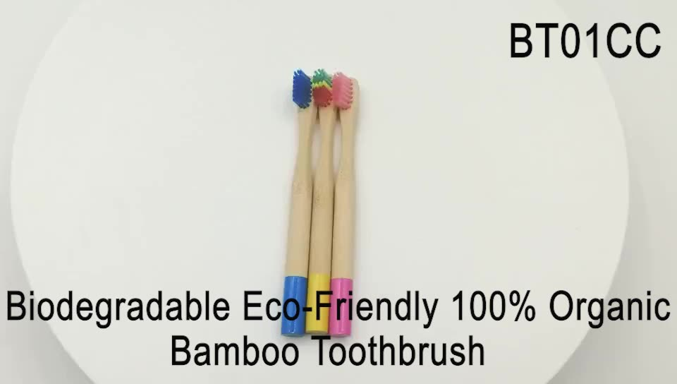 Factory Price Kids' Type Biodegradable Eco-Friendly Toothbrush Hard Bristle Children Style 100% Organic Bamboo Toothbrush