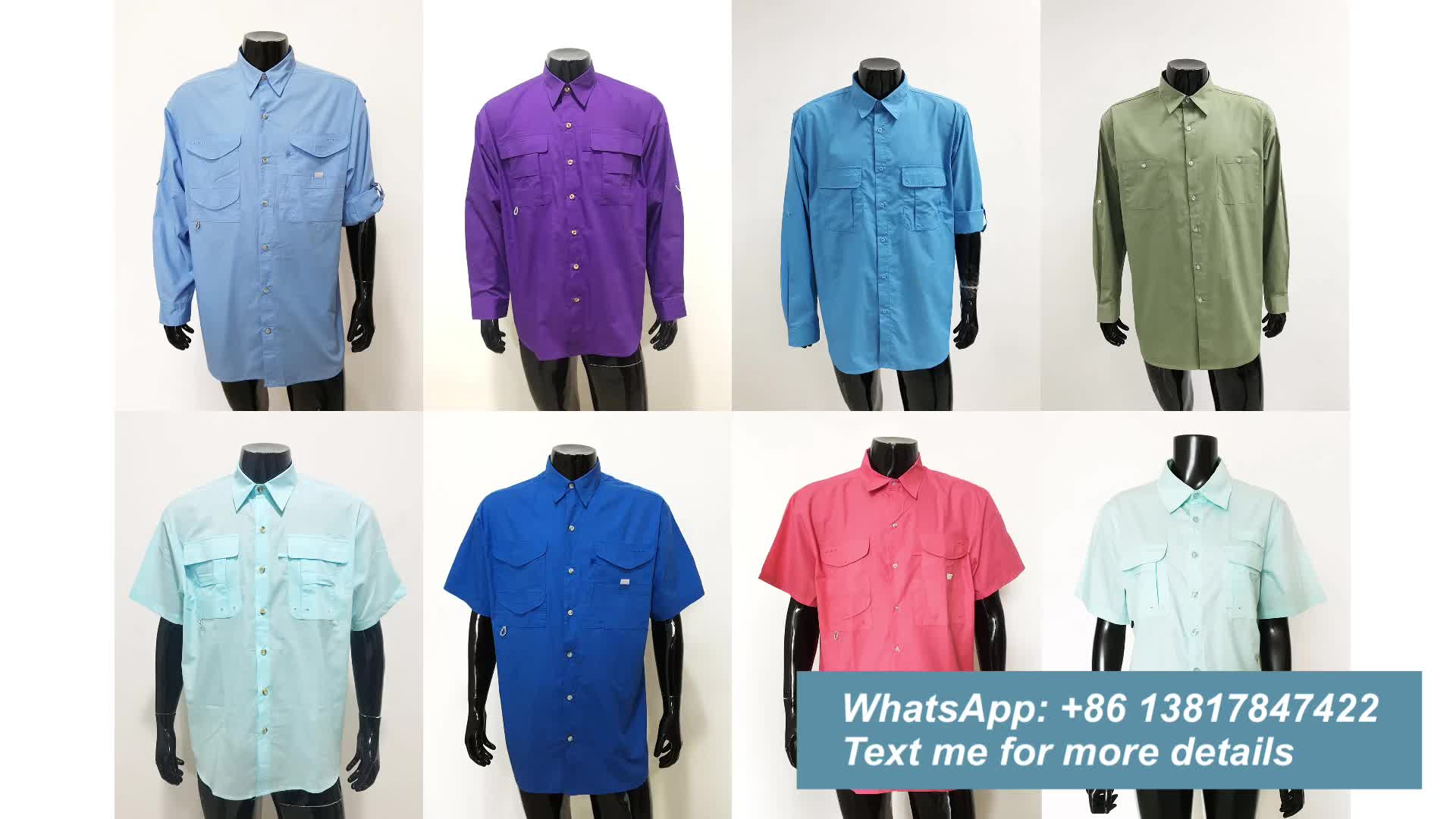 Custom-made Lightweight 100%Polyester Soft Comfortable Summer Short Sleeve SPF Fishing Shirts