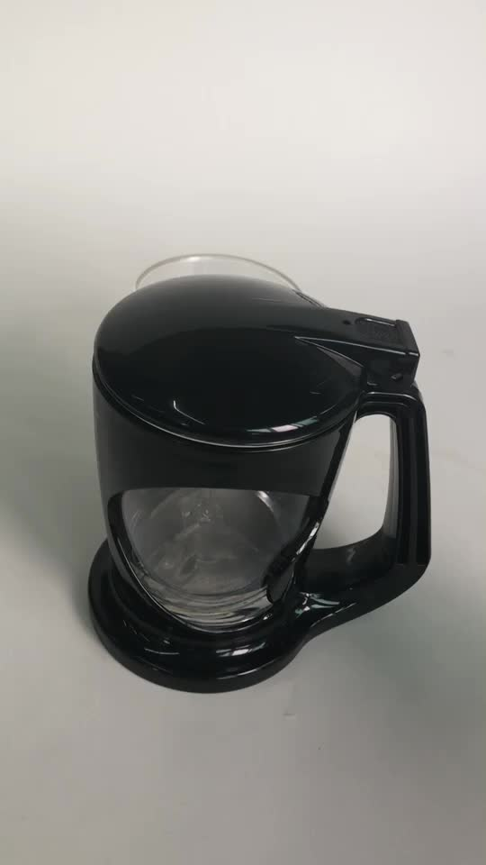 400ml Black Color Magic Plastic Perfect Tea Pot For Cup Or Mug