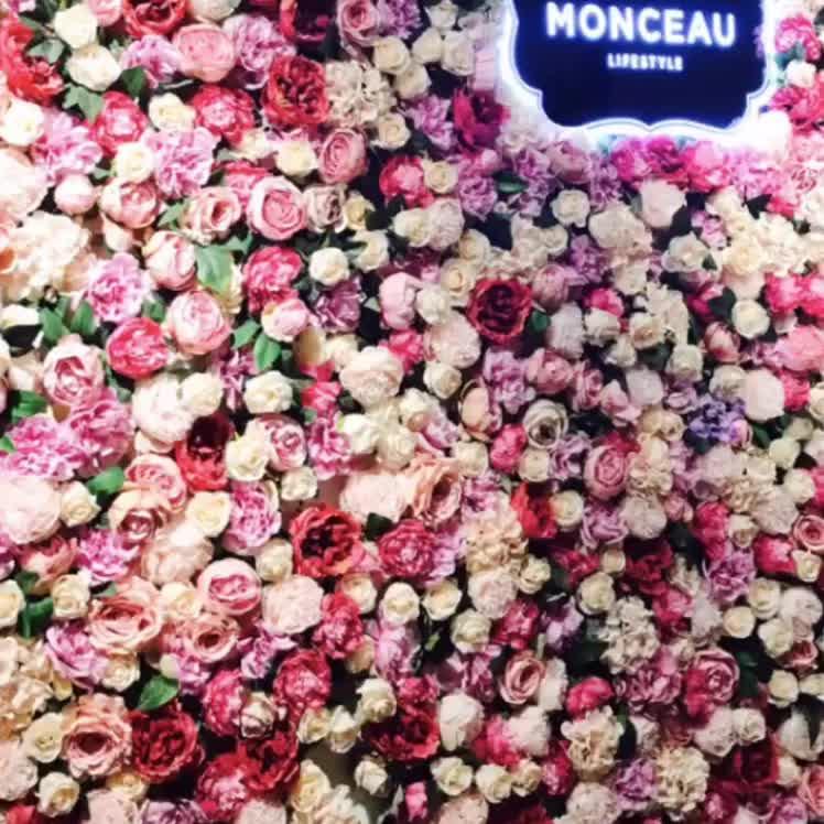 Hochzeit dekoration hintergrund panels künstliche hortensien blume wand