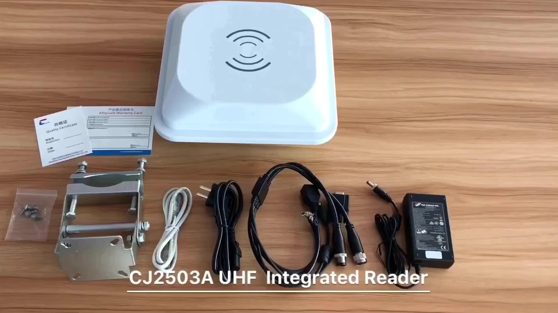 UHF big size vaste rfid-lezer schrijver 10 M, ingebouwde 9dBi antenne lange range rfid-lezer